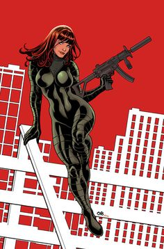 Black Widow by Frank Cho