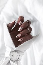 Most Beautiful Winter Nail Designs Shrinking to your Fingertips 2019 - Page 15 of 53 - hairstylesofwomens. com , nails; Cute Acrylic Nails, Matte Nails, Acrylic Nail Designs, Fun Nails, Rounded Acrylic Nails, Minimalist Nails, Nail Swag, Nail Manicure, Nail Polish