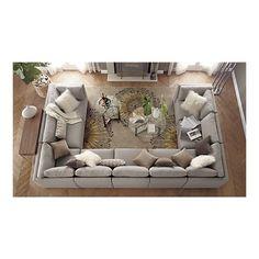 Moda Sectional Sofa, Cosmo Rug