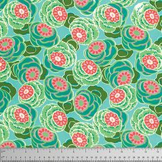 Available in Fat Quarters, Half Yards and Yards. 100 percent cotton quilters weight 44 inch wide fabric.  LENGTHS & MEASUREMENTS: One YARD is 36 (92cm) long by 44/45 (112cm) wide. One HALF YARD is 18 (46cm) long by 44/45 (112cm) wide. One ¼ Yard FAT QUARTER is 18 (46cm) long by 22 (56cm) wide.  This 100% Organic quilting weight fabric is from Amy Butlers Lark line from Westminster Fibers and is 44 inches wide. The pattern is Souvenir in Irory.
