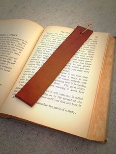 E&C Leather Bookmark by EagleandCrossLeather on Etsy, $5.00
