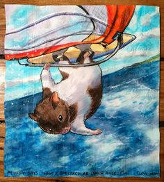 Daily Napkins: Extreme Hamster Windsurfing