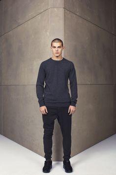 sweater knit, drop crotch insert pant