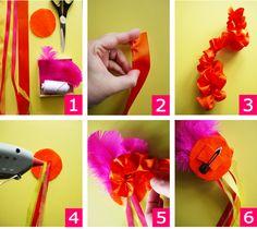 Bird's Party Blog: TUTORIAL: Mexican Senorita DIY Hair Accessory for your Cinco de Mayo Celebrations!