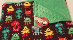 Baby Blanket Monster Flannel and Green Minky 29 x 30 inches. via Etsy. Baby Shower Gifts, Baby Gifts, Generation Gap, Cute Monsters, Minky Fabric, Burp Cloths, Baby Baby, Cool Stuff, Stuff To Buy