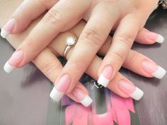 solar+nails+pictures | Solar Pink And White Nails Full set pink & white 40.00