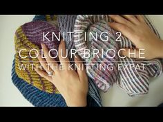 Knitting Two Colour Brioche - With The Knitting Expat