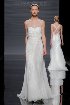 Rosa Clará Barcelona Bridal Week wedding dress 2014