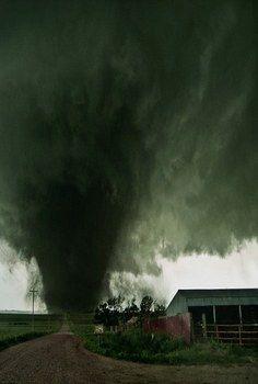 Tornado Heading For The Barn