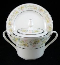 Blossom Time Covered Sugar Bowl and B&B Plate, $18.88/3-pc set at dishfun on ebay, 5/17/15
