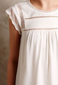White lace detailing.