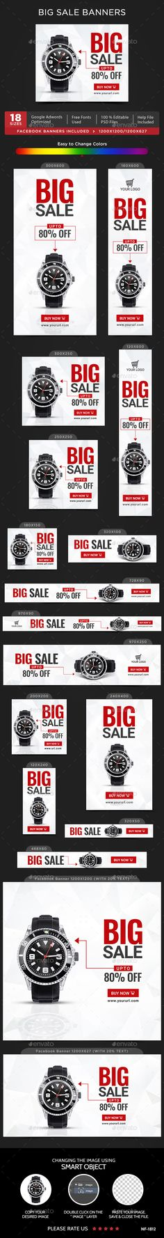 Big Sale #Banners - #Banners & Ads Web Elements Download here: https://graphicriver.net/item/big-sale-banners/20056456?ref=alena994