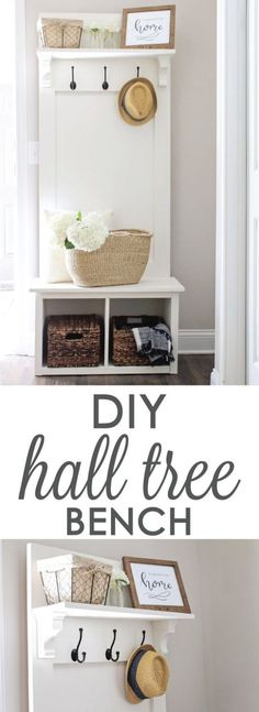 Door Entryway Bench DIY Ideas Video Instructions