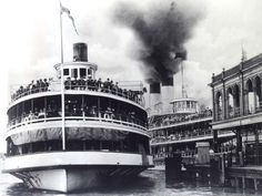 The Tashmoo was a sidewheeler steamboat on Lake St. Clair and Lake Huron and one of the fastest ships Detroit News, New Puzzle, Lake Huron, Alma Mater, Street Signs, Great Lakes, The World's Greatest, Michigan, Boat