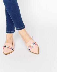 ASOS+MERMAID+Embellished+Flat+Shoes