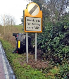 Funny Thank You Driving Carefully Sign | Funny Joke Pictures