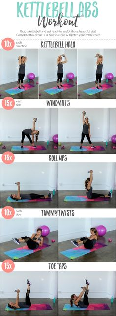 Tighten an tone your entire core with this kettlebell ab workout #weightlosstips