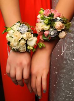 Pukekohe Ball 2015. Two absolutely gorgeous corsages! www.whitedoor.co.nz