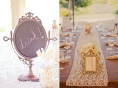 Love the lace on the tables