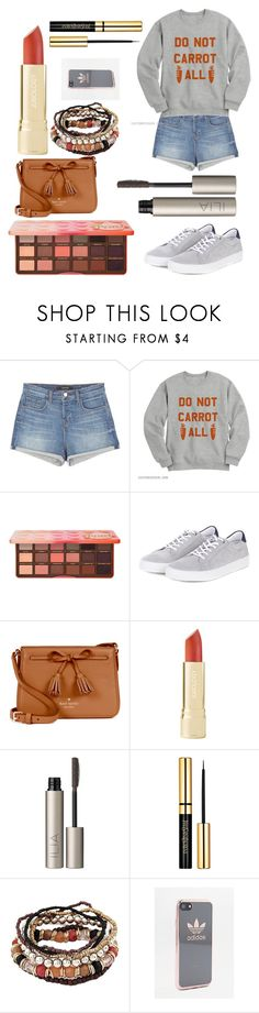 """""""bunny love"""" by bunny05 on Polyvore featuring beauty, J Brand, Too Faced Cosmetics, Barbour, Kate Spade, Ilia and adidas"""