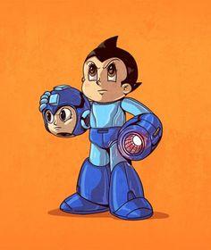 L'artiste Alex Solis s'est amusé à révéler la véritable identité de nos héros préférés. Dans sa série Icons Unmasked vous pourrez ainsi découvrir que le gentil Rondoudou cache en réalité une autre boule rose bien connue et beaucoup plus âgée que le pokémon kawaii, le dénommé Kirby ! Astroboy est Mégaman