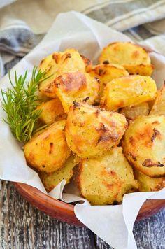 Healthy No Oil Crispy Roasted Potatoes