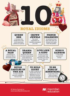 Royal English Idioms - Learn and improve your English language with our FREE Classes. Call Karen Luceti 410-443-1163 to register for classes. Eastern Shore of Maryland. Chesapeake College Adult Education Program. www.chesapeake.edu/esl
