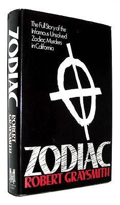 ZODIAC Robert Graysmith 1st Edition 1st Printing HC DJ California Serial Killer $50 (DB DESC)