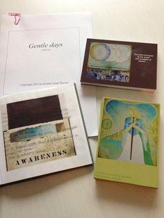 Postcards, and poetry books. By Kristine Gade Hansen. www.cirkelart.dk