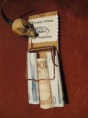 """Geldgeschenk zum Geburtstag - """"Ein paar Mäuse zum Ausgeben."""""""