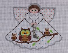 Painted Pony Designs What a Hoot! Angel 996FQ Handpainted Needlepoint Canvas