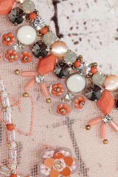 Biyan|Soraya embellished mesh and silk-satin top
