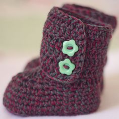 Crochet Baby Booties  Baby Ankle Boots ready to by crochetvalley