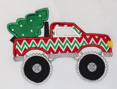Boy's Christmas Shirt Monster Truck with by MommasSewCrazy on Etsy, $20.00