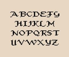 More than 40 free Cross stitch Alphabets