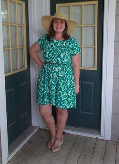 Finding the perfect occasion for a big straw hat is tough, but when it works, it really works!