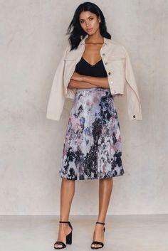 Zoey Skirt Sunrise Print