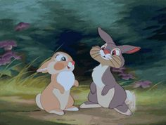 Pin for Later: 38 of the Best Disney Kisses of All Time Thumper and Girl Bunny, Bambi Disney Magic, Panpan Disney, Disney Amor, Disney E Dreamworks, Disney Films, Disney Characters, Fictional Characters, Disney Animation, Disney Mignon