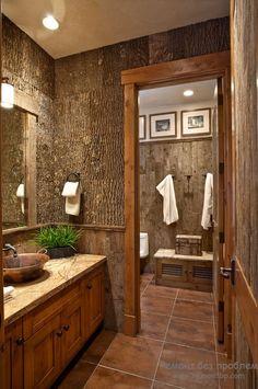 Пробковое покрытие в ванной комнате
