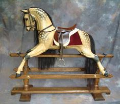 oatmeal dappled rocking horse
