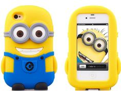 3D Cartoon Character Despicable Me 2 Minions Silicone Soft Case Cover for iPhone 5 5s / iPhone 4 4S - iPhone 5S Cases - iPhone Cases