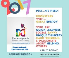 Pssst...Interns wanted. Future leaders and Change Agents needed.
