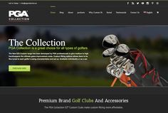 PGA Golf Club Collection - Responsive, Web Design, WordPress, Ecommerce The PGA golf Collection Custom eCommerce website developed on WordPress CMS and custom design layouts presents personalised golf club fitting that allows fine tuning to individual golfers.  Diseñoideas were honored when we were asked to redesign the website for the New PGA Collection. We wanted