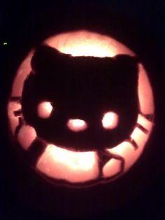 A Hello Kitty pumpkin!!
