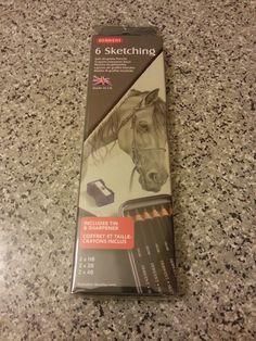 Derwent Sketching Set Tin of 6 Soft Sketching Pencils, 8.3 USD