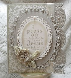 ODBDSLC38 Border It - Our Daily Bread Designs Stamps Never Give Up.  Designer Jan Marie Ennenga