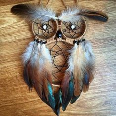 Material natural personalizado Owl Dreamcatcher Etsy - Marta World Owl Crafts, Wire Crafts, Diy Home Crafts, Crafts To Make, Arts And Crafts, Owl Dream Catcher, Dream Catcher Decor, Dreamcatcher Design, Dream Catcher Tutorial