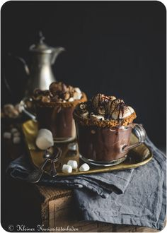 S'mores Hot Chocolate Chocolate Coffee, New Years Party, Coffee Recipes, Chocolate Recipes, Cocoa, Panna Cotta, Food Photography, Favors, Deserts