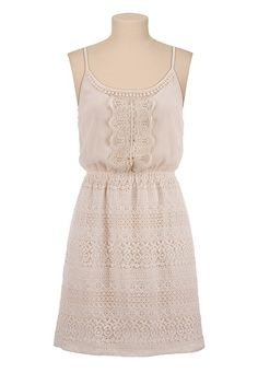 Crochet Lace Tank Dress available at #Maurices