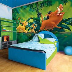 Giant size wallpaper mural for boy's room. Lion King Disney paper wallpaper ideas. Express and worldwide shipping. Free UK delivery.
